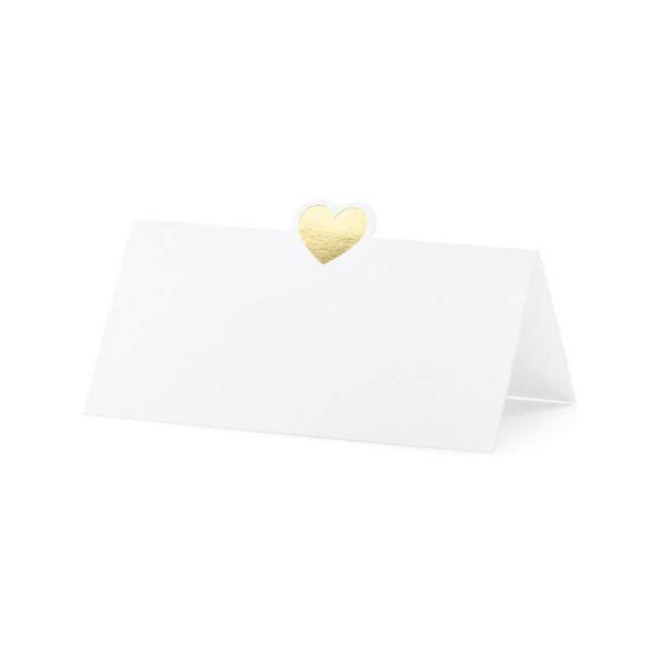 ültetőkártya (10 db/cs) - szíves, arany