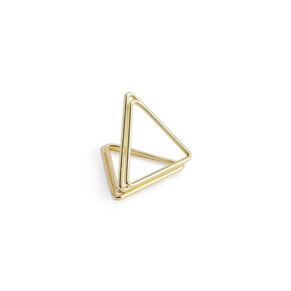ültetőkártya tartó háromszög (10 db/cs) - arany