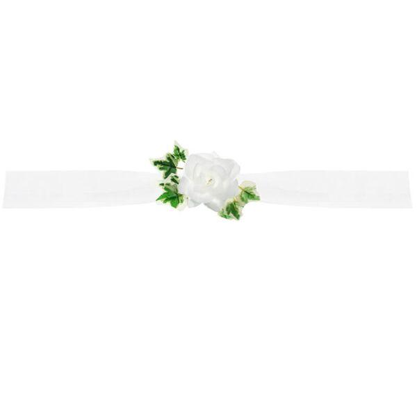 autó dekoráció 1x1,7 m - fehér tüll