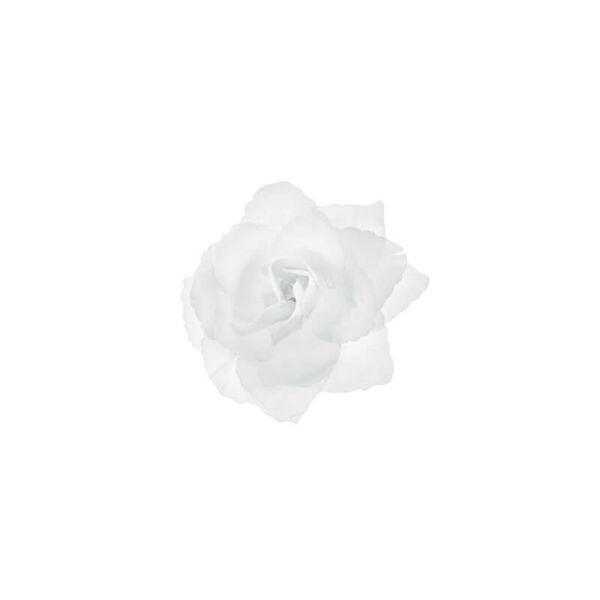 autó dekoráció – öntapadós rózsa, fehér