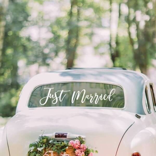 autó matrica – Just Married