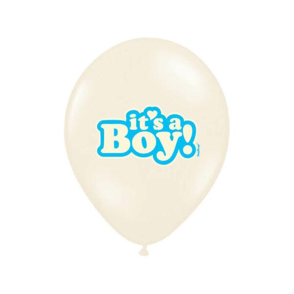 babaváró It's a Boy lufi 30 cm (6 db/cs) – világoskék