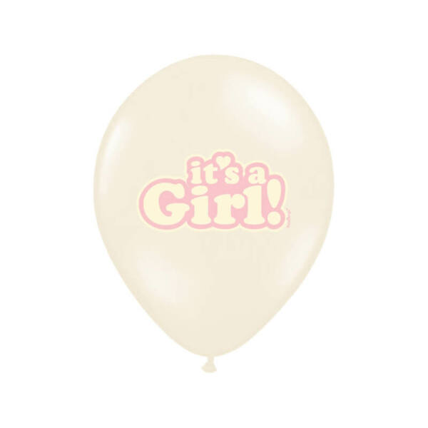 babaváró It's a Girl lufi 30 cm (6 db/cs) - rózsaszín