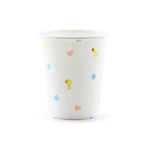 papír pohár (6 db/cs) – Boy or Girl