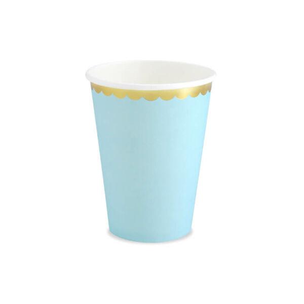 papír pohár (6 db/cs) - világoskék