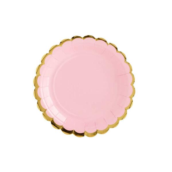 papír tányér (6 db/cs) - rózsaszín