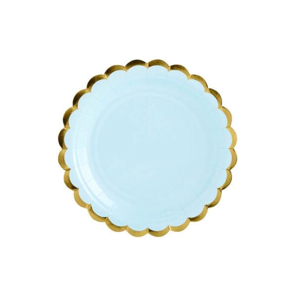 papír tányér (6 db/cs) - világoskék