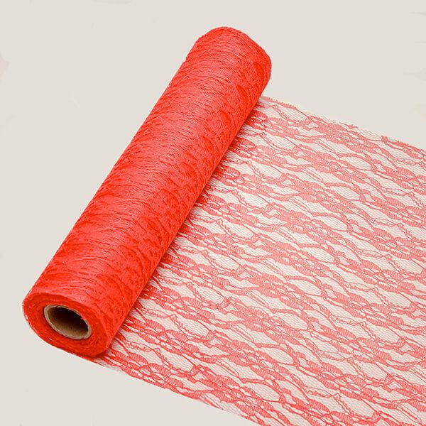 29 cm széles csipke futó (5 m) – piros