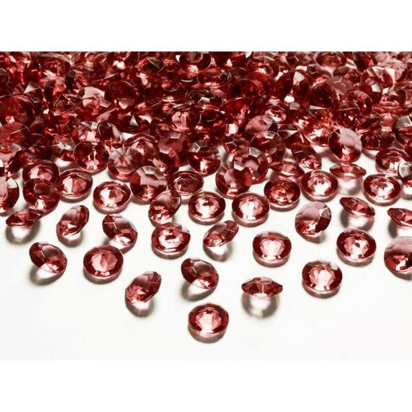 gyémánt dekorkő 12 mm (100 db/cs) - bordó