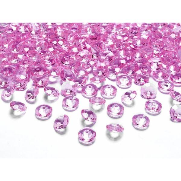gyémánt dekorkő 12 mm (100 db/cs) - pink