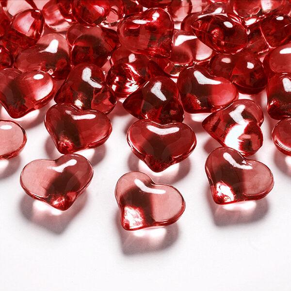 szív dekorkő 20 mm (30 db/cs) - piros