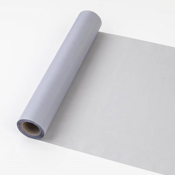 25 cm széles dekorselyem futó (10 m) - ezüst
