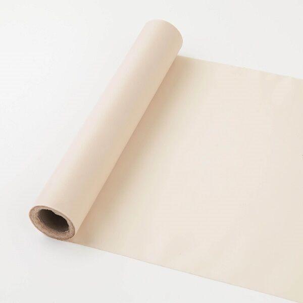 25 cm széles dekorselyem futó (10 m) – sötét krém