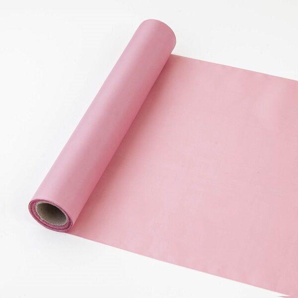 25 cm széles dekorselyem futó (10 m) - vintage rózsaszín