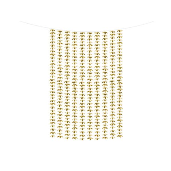 függöny háttérdekoráció 1x2,1 m – virágos, arany
