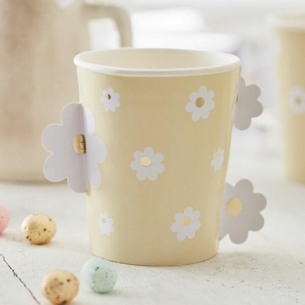 húsvéti papír pohár (8 db/cs) - virág