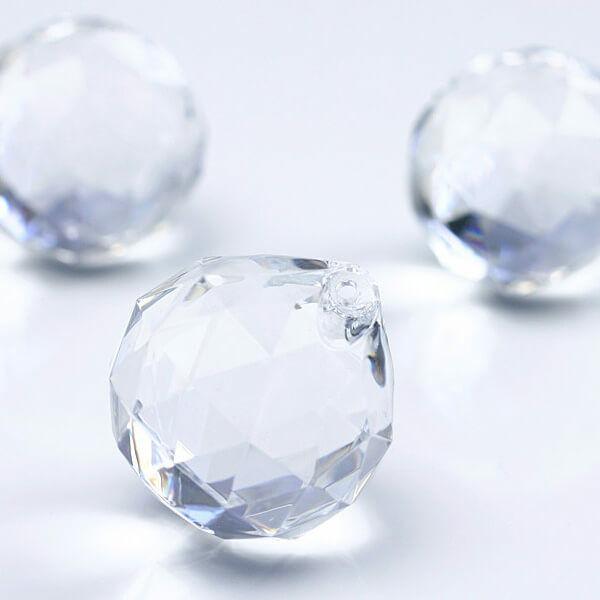 csepp alakú kristály dísz (5 db/cs) - átlátszó