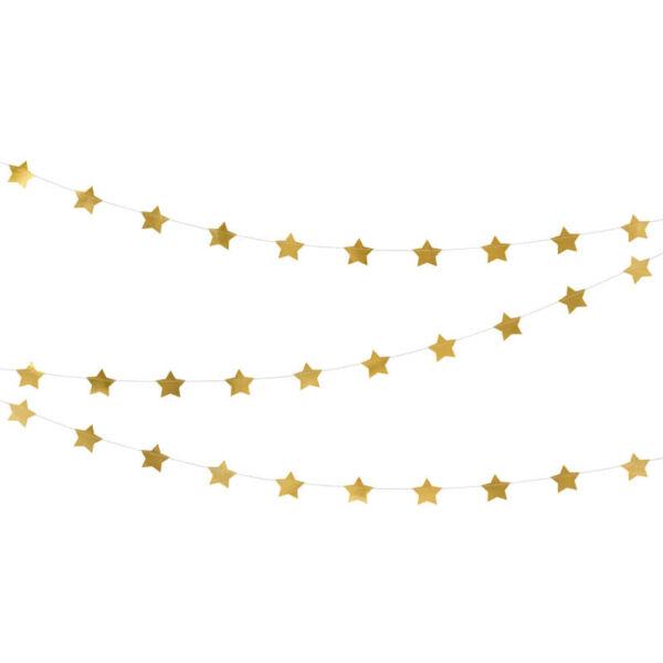 csillagos füzér - arany