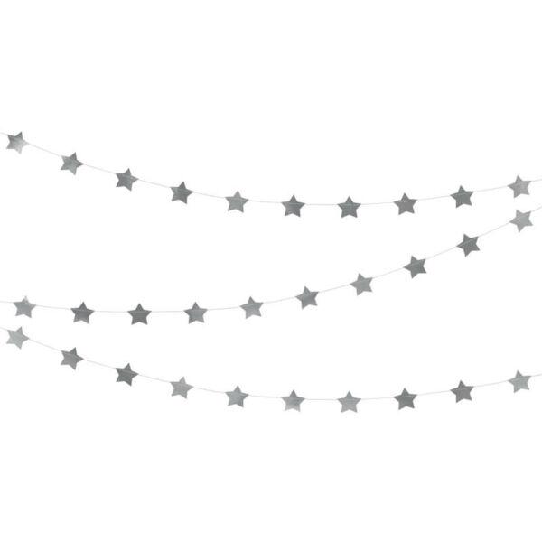 csillagos füzér - ezüst
