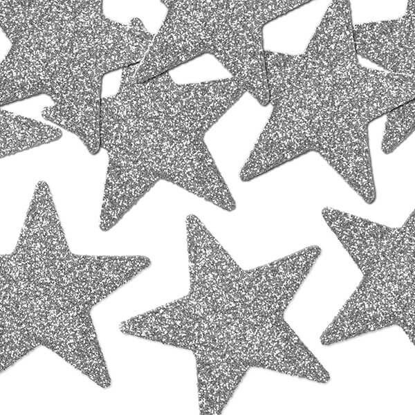 karácsonyi csillag dísz (8 db/cs) - ezüst