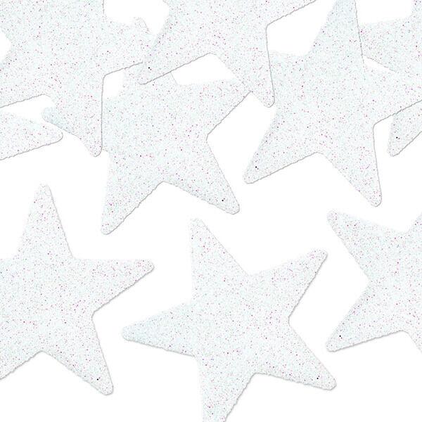 karácsonyi csillag dísz (8 db/cs) - fehér