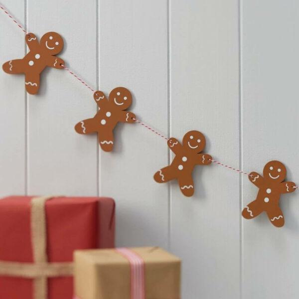 karácsonyi füzér fából - mézeskalács emberke