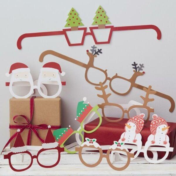 karácsonyi vicces szemüvegek (8 db/cs)