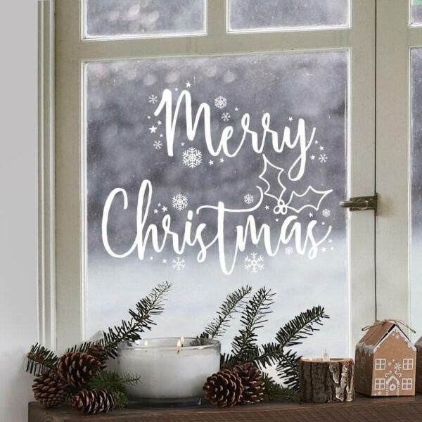 Merry Christmas ablakmatrica