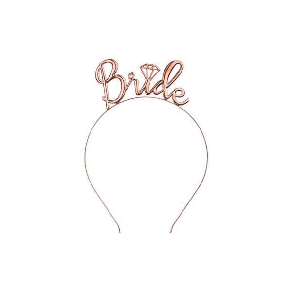 lánybúcsú fém hajpánt – Bride