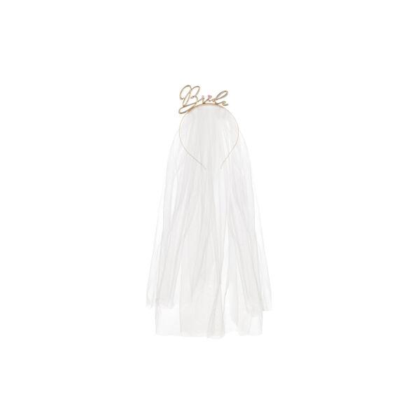 lánybúcsú fém hajpánt fátyollal - Bride