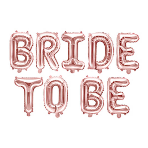lánybúcsú fólia lufi - Bride To Be, rose gold