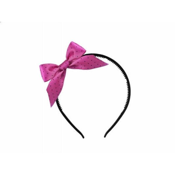 lánybúcsú hajpánt szatén masnival - pink