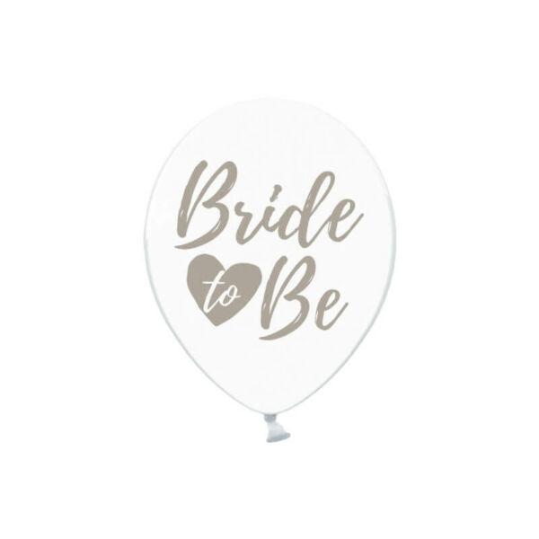 lánybúcsú lufi 30 cm - Bride To Be, ezust