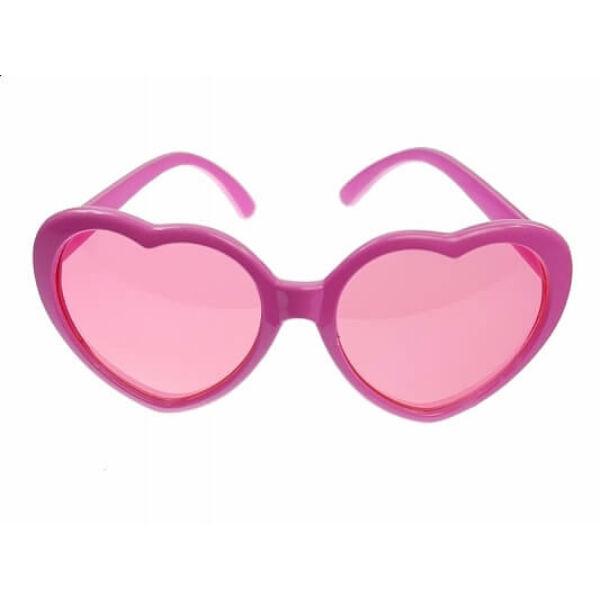 szív alakú szemüveg – pink