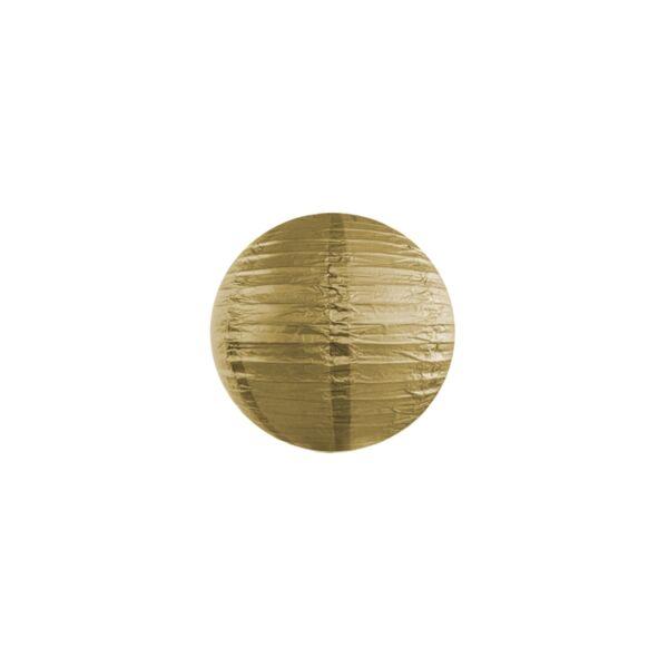 lampion gömb 20 cm - arany