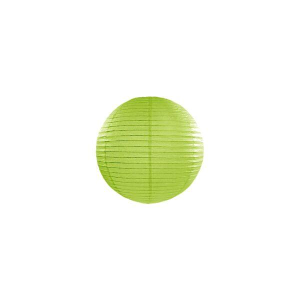lampion gömb 20 cm - fűzöld