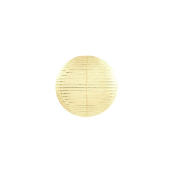 lampion gömb 20 cm – krém