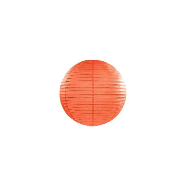 lampion gömb 20 cm - narancs