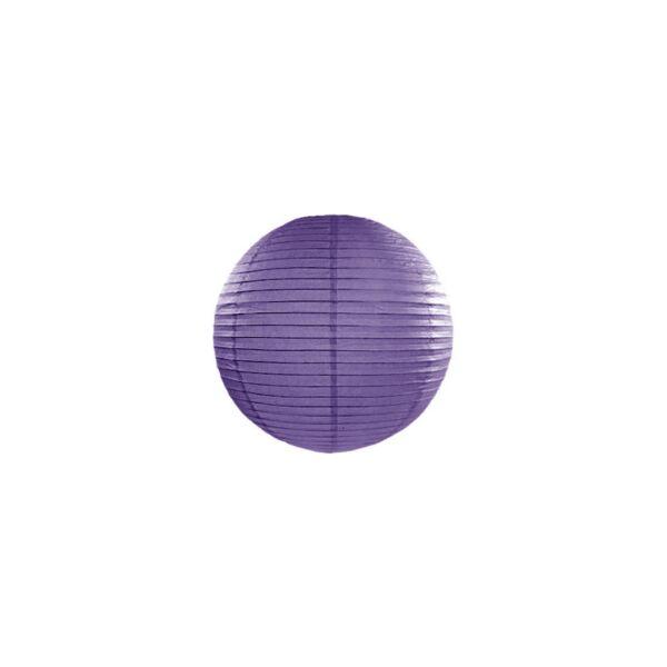 lampion gömb 20 cm - sötétlila