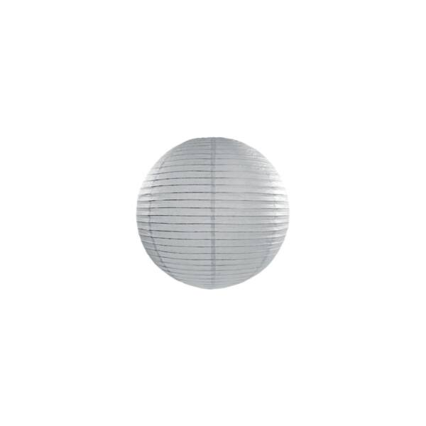 lampion gömb 20 cm – szürke