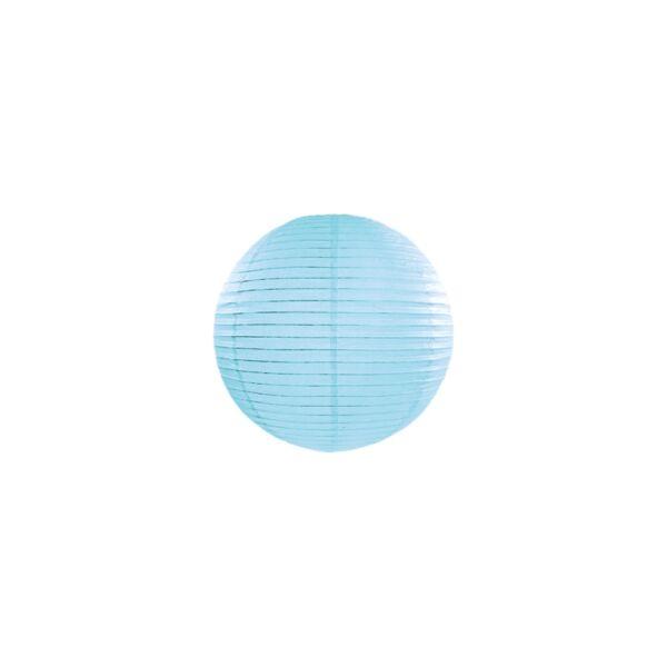 lampion gömb 20 cm - világoskék