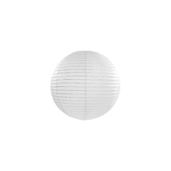 lampion gömb 25 cm - fehér