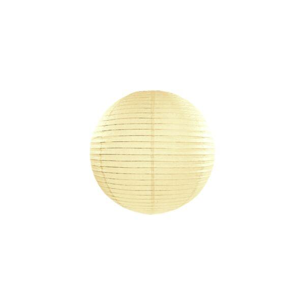 lampion gömb 25 cm – krém