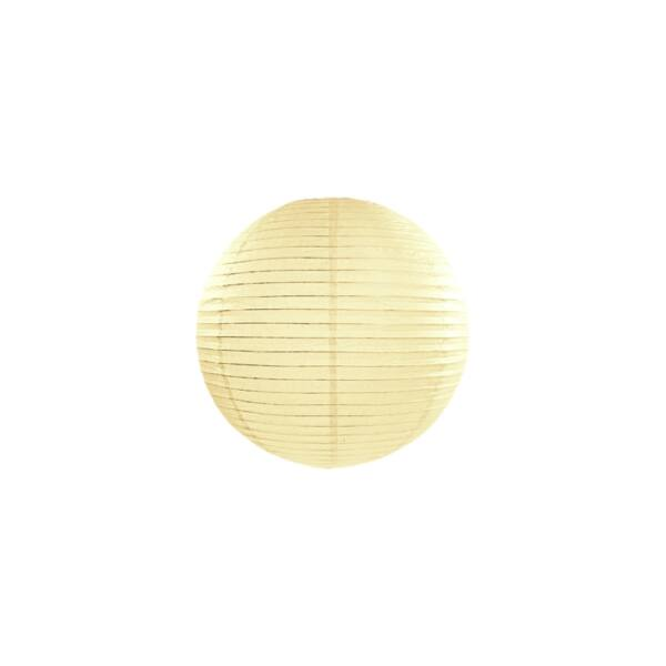 lampion gömb 25 cm - krém
