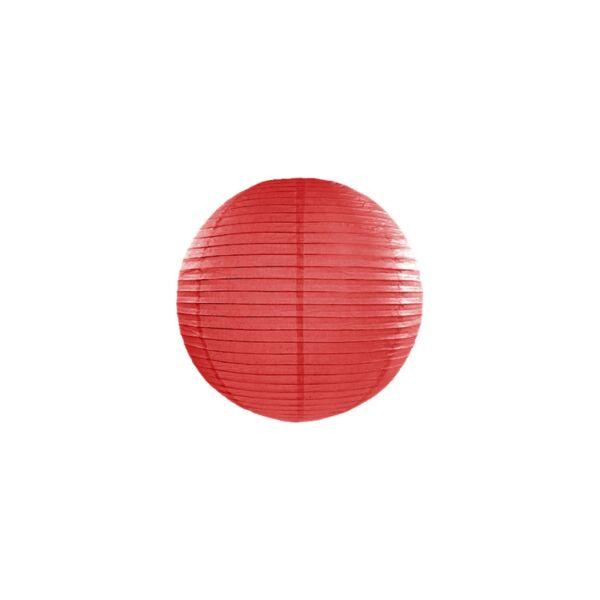 lampion gömb 25 cm - piros