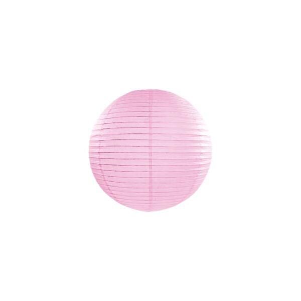 lampion gömb 25 cm - rózsaszín