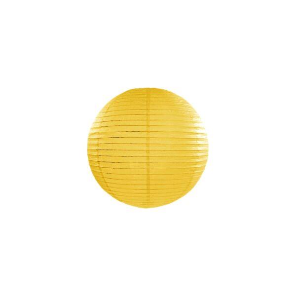 lampion gömb 25 cm – sárga