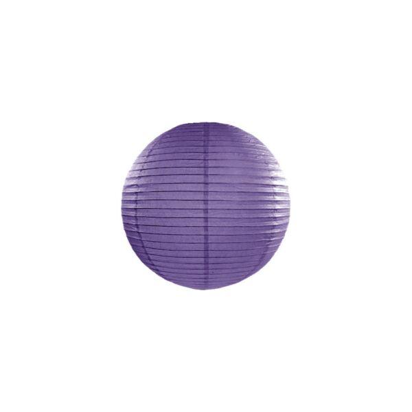lampion gömb 25 cm - sötétlila