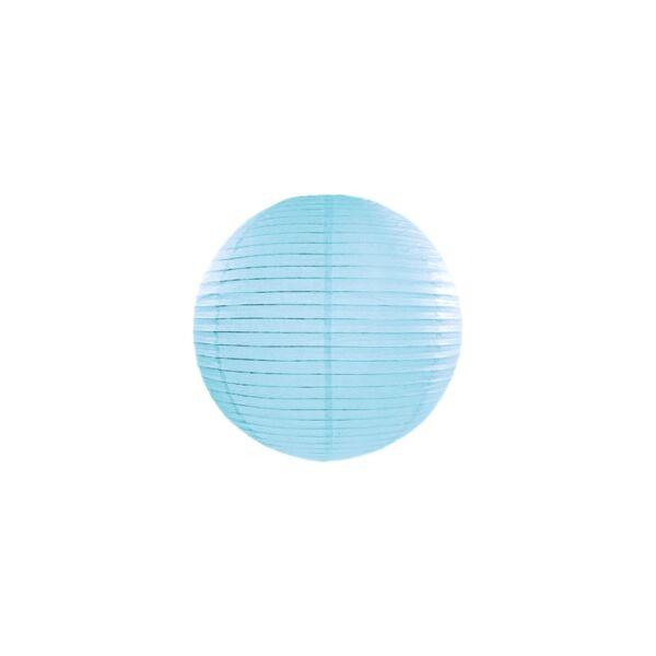 lampion gömb 25 cm – világoskék