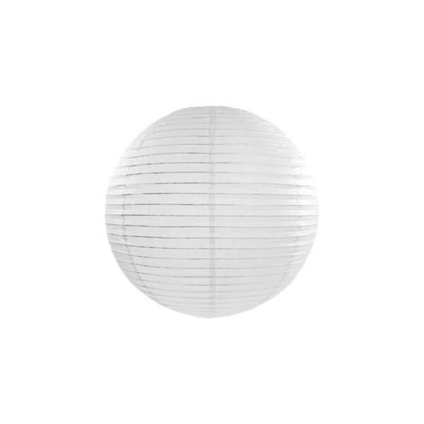 lampion gömb 35 cm - fehér